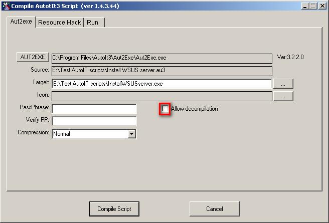 AutoIT < Computing < CLASSE Wiki